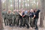 Uczniowie klas mundurowych na biwaku