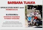 Barbara Tlałka Społecznikiem Roku 2016