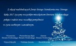Wesołych Świąt Bożego Narodzenia oraz Szczęśliwego Nowego Roku 2017