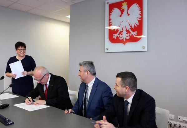 podpisanie umowy ul.Kamiennaa
