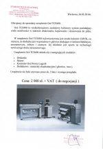 Sprzedaż urządzenia Océ TCS400