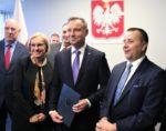Starosta Wschowski na spotkaniu z Prezydentem