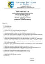Zawiadomienie o XIII sesji Rady Powiatu Wschowskiego