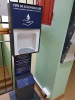 Dyspenser z płynem do dezynfekcji dla Poradni