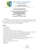 Zawiadomienie o XV sesji Rady Powiatu Wschowskiego