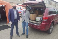 Przekazanie środków ochrony dla Szpitala we Wschowie
