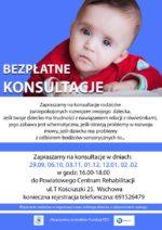 Zaproszenie na bezpłatne konsultacje dla dzieci i ich rodziców