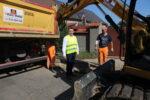 Trwają prace na ul. Dworcowej w Szlichtyngowej, kolejnej inwestycji Powiatu Wschowskiego