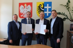 od lewej: Tomasz Urbański, Łukasz Porycki, Waldemar Starosta, Andrzej Ziarek.