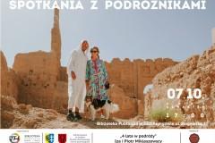 plakat Spotkanie z podróżnikami