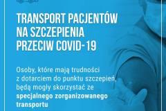 plakat Transport na szczepienie