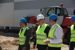 wizyta na terenie budowy nowego zakładu produkcyjnego spółki Jedność