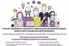 plakat Własna firma-start dla młodych